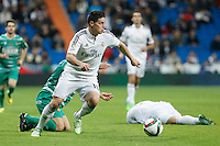 Real Madrid´s James Rodriguez during Spanish King Cup match between Real Madrid and Cornella at Santiago Bernabeu stadium in Madrid, Spain.December 2, 2014. (NortePhoto/ALTERPHOTOS/Victor Blanco)