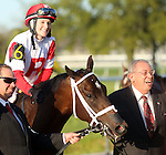 March 29, 2014: on Louisiana Derby Day at the Fairgrounds Race Course in New Orleans, LA. Mary M. Meek/ESW/CSM; Vicar's In Trouble, ridden by Rosie Napravnik, wins the Louisiana Derby for owner Ken Ramsey.