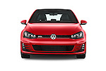 Car photography straight front view of a 2015 Volkswagen GTI DSG 2 Door Hatchback Front View