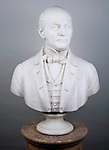 1949.28.1 <br /> Bust. Gustav W. Lurman (1808-1866). <br /> Baltimore merchant.<br /> Not dated.<br /> Marble<br /> Made by Willam Henry Rinehart<br /> Museum Department
