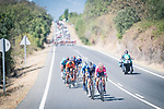 The breakaway including Magnus Cort Nielsen (DEN) EF Education-Nippo during Stage 15 of La Vuelta d'Espana 2021, running 197.5km from Navalmoral de la Mata to El Barraco, Spain. 29th August 2021.     <br /> Picture: Charly Lopez/Unipublic | Cyclefile<br /> <br /> All photos usage must carry mandatory copyright credit (© Cyclefile | Unipublic/Charly Lopez)