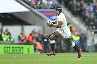 Maro Itoje of England finds space during the Guinness Six Nations match between England and Wales at Twickenham Stadium on Saturday 7th March 2020 (Photo by Rob Munro/Stewart Communications)