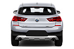 Straight rear view of a 2018 BMW X2 Advantage 5 Door SUV stock images