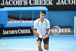 Novak Djokovic (SRB) wins at Australian Open in Melbourne Australia on 17th January 2013
