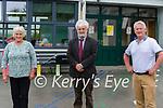 Retiring from Tourist National School are Helen Brosnan, Secretary/ Caretaker, Barra Ó hÚrdail and Principal, Cian o'Siochru .