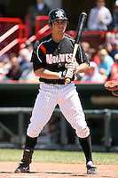 May 31, 2009:  Mike Hollimon of the Erie Seawolves at bat during a game at Jerry Uht Park in Erie, NY.  The Seawolves are the Eastern League Double-A affiliate of the Detroit Tigers.  Photo by:  Mike Janes/Four Seam Images