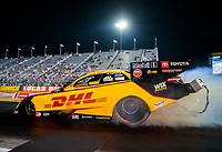 Sep 4, 2020; Clermont, Indiana, United States; NHRA funny car driver J.R. Todd during qualifying for the US Nationals at Lucas Oil Raceway. Mandatory Credit: Mark J. Rebilas-USA TODAY Sports