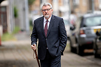 """Pictured: Alun Wyn Roberts arrives at Swansea Crown Court in Swansea, Wales, UK. Friday 25 June 2021<br /> Re: A pensioner pretended to have a mouth infection in a bid to discourage unwanted """"advances"""" from a council employee, a court has heard.<br /> The woman, who is in her 80s, told a man who she says asked her for a kiss that she had oral thrush but claims he kissed her anyway.<br /> Carmarthenshire council visual impairment assessment officer Alun Wyn Roberts is alleged to have kissed and touched three women during visits to their homes. The 61-year-old denies five charges of sexual assault."""