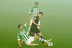 Real Betis Balompie's Sergio Canales (l) and Joaquin Sanchez (t) and Real Sociedad's Ander Barrenetxea during La Copa match. January 26, 2021. (ALTERPHOTOS/Acero)