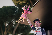 Tom Dumoulin (NED/Sunweb) finishing 2nd in the 2018 Giro behind (controvercial winner) Chris Froome<br /> <br /> stage 21: Roma - Roma (115km)<br /> 101th Giro d'Italia 2018