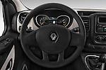 Car pictures of steering wheel view of a 2015 Renault Trafic Fourgon Extra L1H1 dCi 120 TT S&S 2.7T 4 Door Cargo Van 2WD Steering Wheel