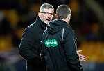 St Johnstone v Hearts…30.10.19   McDiarmid Park   SPFL<br />Craig Levein has words with 4th official Kevin Graham<br />Picture by Graeme Hart.<br />Copyright Perthshire Picture Agency<br />Tel: 01738 623350  Mobile: 07990 594431