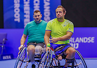Rotterdam, Netherlands, December 15, 2017, Topsportcentrum, Ned. Loterij NK Tennis, Wheelchair doubles men, Tom Egberink (NED) (R) and Ricky Mollier (NED)<br /> Photo: Tennisimages/Henk Koster