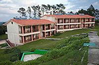 Cuba, Pinar del Rio Region, Viñales (Vinales) Area.  Solar Panels on Roof of Local Resort Hotel.