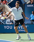 August 30,2019:  Roger Federer (SUI) defeated Daniel Evans (GBR) 6-2, 6-2, 6-1, at the US Open being played at Billie Jean King National Tennis Center in Flushing, Queens, NY.  ©Jo Becktold/CSM