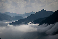 view up the Tourmalet (HC/2115m/19km @7.4%)<br /> <br /> Stage 14: Tarbes to Tourmalet(117km)<br /> 106th Tour de France 2019 (2.UWT)<br /> <br /> ©kramon