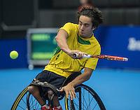 Rotterdam, Netherlands, December 13, 2016, Topsportcentrum, Lotto NK Tennis,   Carlos Anker (NED)<br /> Photo: Tennisimages/Henk Koster