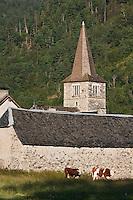 Europe/France/Midi-Pyrénées/65/Hautes-Pyrénées/Vieille-Aure: L'église romane Saint-Barthélemy