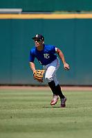 Edgardo Villegas (11) of Carlos Beltran Baseball Academy in Vega Alta, PR during the Perfect Game National Showcase at Hoover Metropolitan Stadium on June 19, 2020 in Hoover, Alabama. (Mike Janes/Four Seam Images)