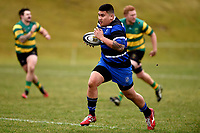 Jonah Aiona in action during the Otago premier club rugby union match between Kaikorai and Green Island at Bishopscourt Park in Dunedin, New Zealand on Saturday, 4 July 2020. Photo: Joe Allison / lintottphoto.co.nz