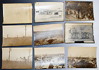 BNPS.co.uk (01202 558833)<br /> Pic: StroudAuctions/BNPS<br /> <br /> Pictured: Capt Somervel took haunting pictures on the front line <br /> <br /> The poignant sketchbook of a World War One surgeon has been unearthed a century later.<br /> <br /> Captain Theodore Howard Somervell, of the Royal Medical Corps, treated hundreds of wounded Tommies in a field hospital at the Battle of the Somme.<br /> <br /> He was one of just four surgeons working flat-out in a tent, as scores of casualties lay dying on stretchers outside on the bloodiest in British military history.<br /> <br /> There is a sombre pencil sketch of a soldier on the operating table surrounded by a nurse and doctors. Another watercolour shows the bodies of soldiers strewn on a boggy Western Front battlefield.<br /> <br /> Capt Somervell, who was Mentioned In Despatches, drew landmarks including churches which were reduced to rubble in the deadly barrage. He also took rare photos of life on the frontline, including some taken inside an operating theatre. His sketchbook is being sold by a direct descendant with Stroud Auctions, of Gloucs.