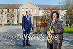 Mayor of Kerry Patrick O'Connor- Scarteen and CEO of Kerry County Council Moira Murrell outside Kerry County Council.