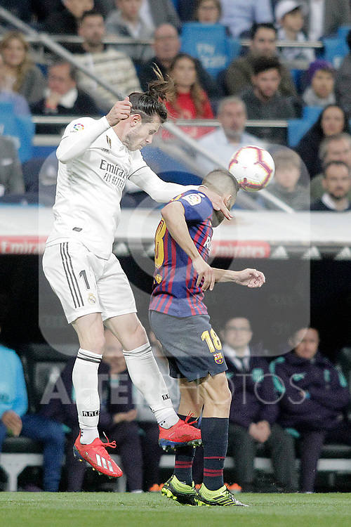 Real Madrid CF's Gareth Bale and FC Barcelona's Jordi Alba during La Liga match. March 02,2019. (ALTERPHOTOS/Alconada)