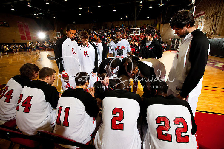 Belmont Abbey College's Men's basketball team vs. Queens University, January 23, 2009 at  Belmont Abbey College. The Abbey went on to defeat Queens University 83-76 at the Wheeler Center.