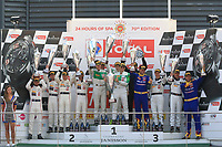#333 RINALDI RACING (DEU) FERRARI 488 GT3 PRO AM CUP ALEXANDER MATTSCHULL (DEU) RINAT SALIKHOV (RUS) DAVID PEREL (ZAF) DANIEL KEILWITZ (DEU) PRO AM WINNER TOTAL 24H OF SPA<br /> #42 STRAKKA RACING (GBR) MERCEDES AMG GT3 PRO AM CUP NICK LEVENTIS (GBR) CHRIS BUNCOMBE (GBR) LEWIS WILLIAMSON (GBR) DAVID FUMANELLI (ITA) PRO AM SECOND <br /> #175 SUN ENERGY 1 TEAM HTP MOTORSPORT (DEU) MERCEDES AMG GT3 PRO-AM CUP KENNY HABUL (AUS) BERND SCHNEIDER (DEU) THOMAS JAGER (DEU) MARTIN KONRAD (AUT) PRO AM THIRD