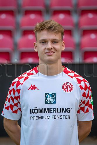 16th August 2020, Rheinland-Pfalz - Mainz, Germany: Official media day for FSC Mainz players and staff; Keeper Marius Liesegang FSV Mainz 05