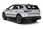 Car pictures of rear three quarter view of 2021 Skoda Enyaq-iV 80 5 Door SUV Angular Rear