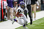 TCU Horned Frogs wide receiver Josh Doctson (9) in action during the game between the TCU Horned Frogs and the Baylor Bears at the McLane Stadium in Waco, Texas. TCU leads Baylor 31 to 27 at halftime.