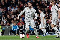 Real Madrid's Sergio Ramos during La Liga match between Real Madrid and SD Huesca at Santiago Bernabeu Stadium in Madrid, Spain.March 31, 2019. (ALTERPHOTOS/A. Perez Meca)<br /> Liga Campionato Spagna 2018/2019<br /> Foto Alterphotos / Insidefoto <br /> ITALY ONLY