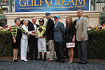 Graydar's connections celebrate after winning the Donn Handicap (G1) at Gulfstream Park.  Hallandale Beach Florida. 02-09-2013