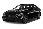 2022 Mercedes Benz C-Class AMG-Line 4 Door Sedan Angular Front automotive stock photos of front three quarter view