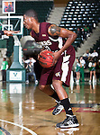 Texas State Bobcats forward Cameron Johnson (23) gets a rebound in the game between the Texas State Bobcats and the University of North Texas Mean Green at the North Texas Coliseum,the Super Pit, in Denton, Texas. UNT defeated Texas State 85 to 62