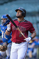 Arizona Diamondbacks outfielder Yasmany Tomas (24) during a rehab assignment in an Instructional League game against the Kansas City Royals at Chase Field on October 14, 2017 in Phoenix, Arizona. (Zachary Lucy/Four Seam Images)