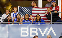 HOUSTON, TX - FEBRUARY 03: USA supporters during a game between Costa Rica and USWNT at BBVA Stadium on February 03, 2020 in Houston, Texas.