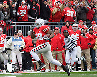 """November 22, 2008. Ohio State running back Chris """"Beanie"""" Wells heads to the endzone on a 59-yard touchdown run.The Ohio State Buckeyes defeated the Michigan Wolverines 42-7 on November 22, 2008 at Ohio Stadium, Columbus, Ohio."""