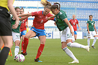 20190306 - LARNACA , CYPRUS : Czech forward Lucie Vonkova pictured during a women's soccer game between Czech Republic and Mexico , on Wednesday 6 March 2019  at the Antonis Papadopoulos Stadium in Larnaca , Cyprus . . This last game for both teams which decides for places 5 and 6 of the Cyprus Womens Cup 2019 , a prestigious women soccer tournament as a preparation on the Uefa Women's Euro 2021 qualification duels. PHOTO SPORTPIX.BE | STIJN AUDOOREN