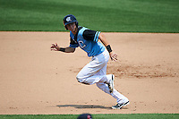 Syracuse Chiefs shortstop Trea Turner (4) running the bases during a game against the Pawtucket Red Sox on July 6, 2015 at NBT Bank Stadium in Syracuse, New York.  Syracuse defeated Pawtucket 3-2.  (Mike Janes/Four Seam Images)