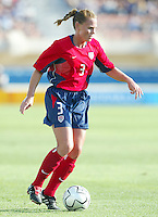 August 11th, 2004: Christie Rampone in action against Greece at Pankritio Stadium in Heraklio, Greece.  USA defeated Greece, 3-0..Credit: Michael Pimentel / ISI