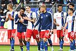 05.10.2019,  GER; 2. FBL, Hamburger SV vs SpVgg Greuther Fuerth ,DFL REGULATIONS PROHIBIT ANY USE OF PHOTOGRAPHS AS IMAGE SEQUENCES AND/OR QUASI-VIDEO, im Bild die Mannschaft des HSV jubelt ueber den Sieg Foto © nordphoto / Witke *** Local Caption ***
