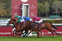 4th October 2020, Longchamp Racecourse, Paris, France; Qatar Prix de l Arc de Triomphe;  One Master ridden by Pierre Charles Boudot