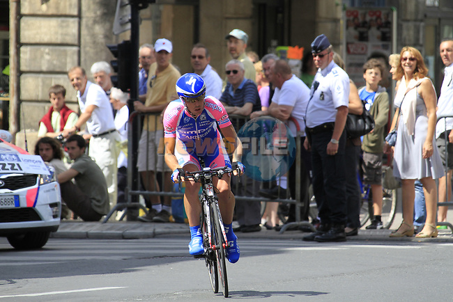 Francesco Gavazzi (ITA) Lampre-Farnese Vini in action during Stage 19 of the 2010 Tour de France an individual time trial running 52km from Bordeaux to Pauillac, France. 24th July 2010.<br /> (Photo by Eoin Clarke/NEWSFILE).<br /> All photos usage must carry mandatory copyright credit (© NEWSFILE | Eoin Clarke)
