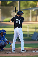 AZL White Sox Jonathan Allen (21) at bat during an Arizona League game against the AZL Royals at Camelback Ranch on June 19, 2019 in Glendale, Arizona. AZL White Sox defeated AZL Royals 4-2. (Zachary Lucy/Four Seam Images)