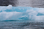 Dramatic Blue Ice in small iceberg in Prince William Sound, Alaska