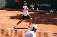 Paris, France, 1 june 2021, Tennis, French Open, Roland Garros, First round doubles match:  Jean-Julien Rojer (NED) <br /> Photo: tennisimages.com