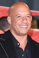 "Vin Diesel<br /> at the ""xXx: Return of Xander Cage"" premiere at O2 Cineworld, Greenwich , London.<br /> <br /> <br /> ©Ash Knotek  D3216  10/01/2017"
