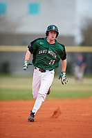 Dartmouth Big Green third baseman Steffen Torgersen (29) running the bases during a game against the Southern Maine Huskies on March 23, 2017 at Lake Myrtle Park in Auburndale, Florida.  Dartmouth defeated Southern Maine 9-1.  (Mike Janes/Four Seam Images)